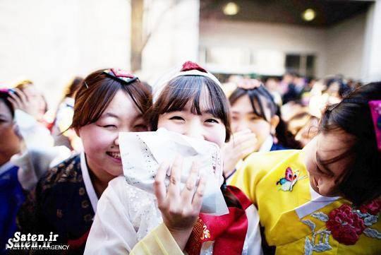 جشن ورود دختران به سن بلوغ در سئول کره جنوبی + عکس