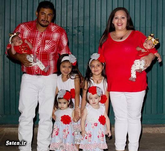 این زن و شوهر جوان ۱۴ تا دختر دارند +عکس