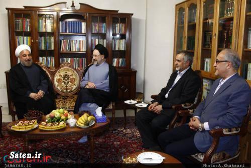 عکس روحانی عکس خاتمی سیدعلی خاتمی حسین فریدون برادر روحانی برادر خاتمی