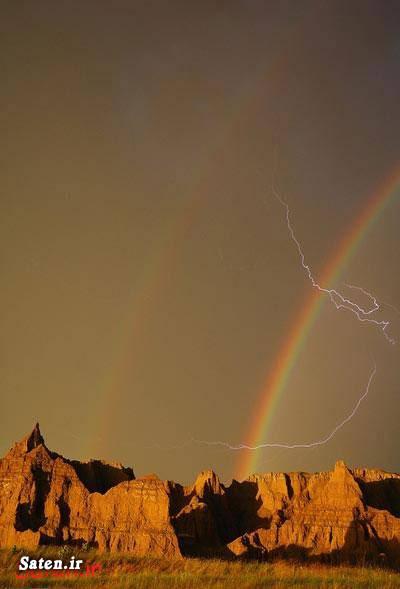 منظره نایاب داکوتای جنوبی پارک ملی بادلندز