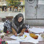 """روایت نقاش شدن """"ننه حسن"""" منور رمضانی + عکس"""