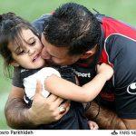 دختر علی دایی در پرسپولیس پا به توپ شد + عکس