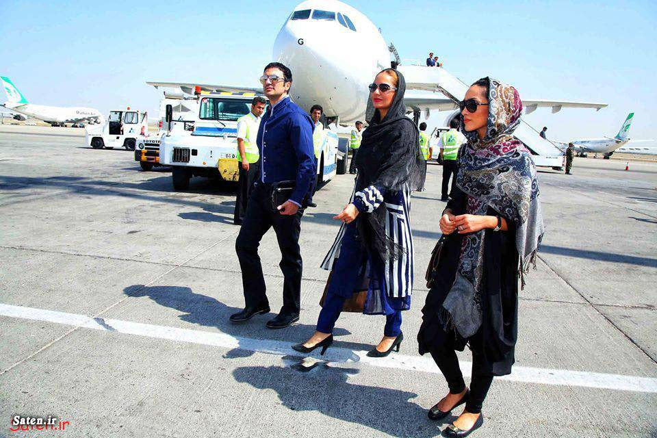 خاطره اسدی همرا با مهناز افشار در فرودگاه مشهد