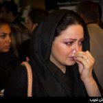 اشک های شیلا خداداد و همسرش در مراسم ختم نسیم حشمتی + عکس
