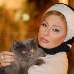 عزاداری نیوشا ضیغمی برای گربه از دست رفته اش! + عکس