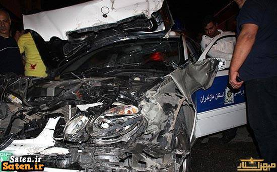 ماشین پلیس عکس ماشین پلیس حادثه دلخراش تصادف وحشتناک در ایران تصادف ماشین پلیس