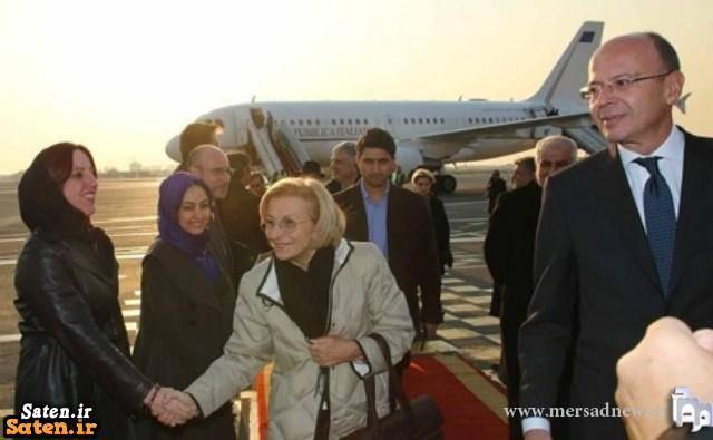 وزیر خارجه ایتالیا حجاب وزیر خارجه ایتالیا بی حجابی وزیر خارجه ایتالیا