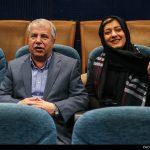 """علی پروین هنگام اکران فیلم دخترش """"لادن پروین"""" در جشنواره فجر + عکس"""