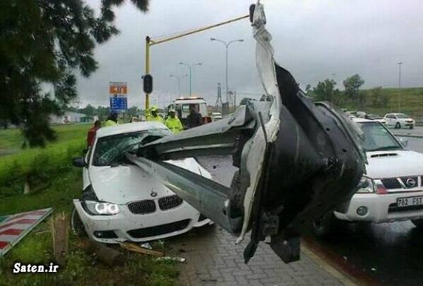 عکس تصادف تصادف ورزشکار تصادف فوتبالیست تصادف عجیب