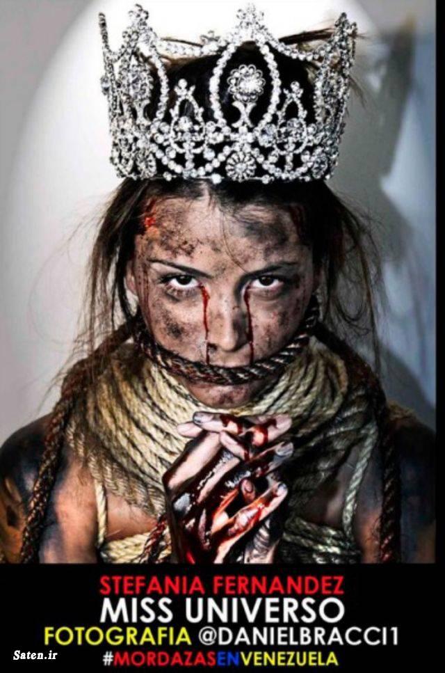 ملکه زیبایی ونزوئلا ملکه زیبایی دنیا ملکه زیبایی دختر زیبا تاج الماس بیوگرافی استفانیا فرناندز استفانیا فرناندز Stefania Fernandez