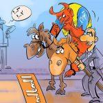 غول تورم در اولین روزهای سال 93 سوار اسب شد + عکس
