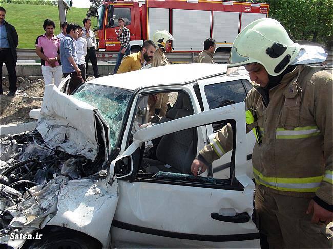 عکس تصادف تصادف ماشین تصادف شدید تصادف خودرو