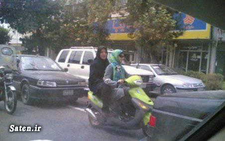 عکس دیدنی عکس جالب دختر موتورسوار در تهران! دختر موتورسوار دختر موتور سوارایرانی دختر تهرانی دختر ایرانی
