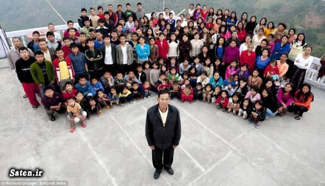 زیونا چانا رکوردهای دنیا رکودهای گینس دهکده باکتوانگ خانواده عجیب خانواده جالب جوان ترین زن بهترین همسر اخبار عجیب اخبار جالب