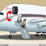 افزایش ۱۰۰ درصدی نرخ بلیت هواپیما! / کاریکاتور