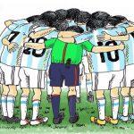 کاریکاتورهای تلخ از بازی (ایران – آرژانتین) در جام جهانی 2014 برزیل