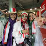 بازیگران و هنرمندان در ورزشگاه بازی (ایران – بوسنی ) + عکس
