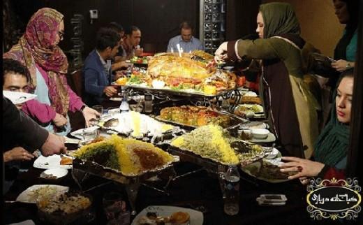 عکس افطاری بهنوش بختیاری