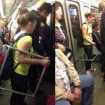 محافظ عجیب و جالب یک خانم در مترو!  + عکس