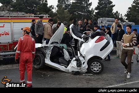 مشخصات پژو عکس تصادف تصادف داخراش تصادف خودرو اخبار حوادث