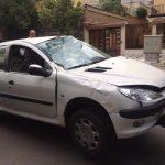 حادثه رانندگی برای خواننده پاپ ایران + عکس