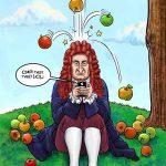 """اگر نیوتن"""" هم موبایل داشت! / کاریکاتور"""