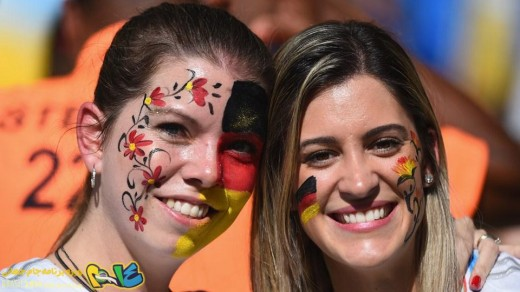 عکس جام جهانی برزیل اخبار جام جهانی برزیل Shakira Mario Goetze Lena Gercke girlfriend German fans Angela Merkel