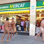 توریست های مست و برهنه انگلیسی و ایتالیایی در خیایان های اسپانیا + عکس