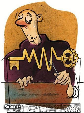 کلید روحانی کاریکاتور سیاسی کاریکاتور دولت
