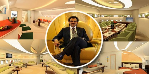 هواپیمای شخصی ثروتمندترین افراد جهان بیوگرافی ولید بن طلال