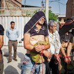 دستگیری و نمایش اراذل و اوباش در ساری + عکس