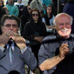 هنجارشکنی در مراسم تشییع سیمین بهبهانی + عکس مهناز افشار