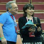 ولاسکو و همسرش در حال تماشای والیبال ایران و آلمان + عکس