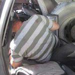 نجات راننده از زیر چرخ های کامیون