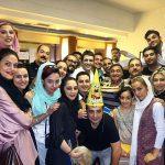 جشن تولد پژمان جمشیدی در پشت صحنه تئاتر + عکس