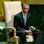 ژست بچه گانه اوباما در سازمان ملل + عکس
