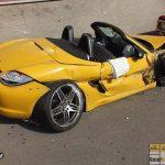تصادف سنگین پورشه گرانقیمت در تهران! + عکس