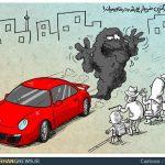 خودنمایی بچه پولدارهای تهران / کاریکاتور