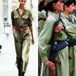لباس زنان و دختران جنگجوی کُرد مُد شد! + عکس