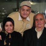 اکبر عبدی: مهریه همسرم به جای ۱۱۰سکه شد ۱۱ تا ! + عکس دختر و داماد