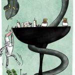 کاهش قیمت دارو / کاریکاتور