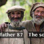 پدر ۸۷ ساله و پسر ۷۲ ساله! + عکس