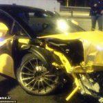 تصادف شدید بازیکن معروف با لامبورگینی + عکس