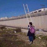 دختری که در کیف مدرسهاش نردبان دارد! + عکس