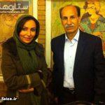 عکس بازیگر زن استقلالی با مرحوم مظلومی