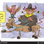 علاءالدین بروجردی: آمریکا باید از خر شیطان پایین بیاید! / کاریکاتور