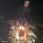 قهرمان آسیا بر سر مزار مرتضی پاشایی + عکس