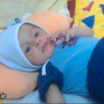 کودک ۴ ماهه کارتن خواب تهرانی به هروئین معتاد است + عکس