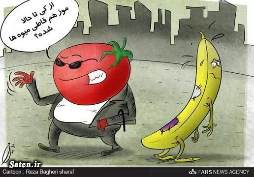 کاریکاتور گوجه فرنگی کاریکاتور قیمت کالا کاریکاتور تورم