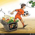 لیگ برتر فوتبال با تلویزیون قهر کرد / کاریکاتور